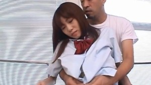 Slutty Asian schoolgirl gets rubbed and fucked
