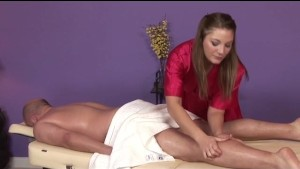 Aurora Snow Gets Cum All Over Her Tits After Massage