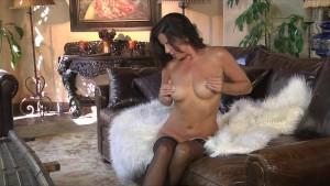 Slutty brunette loves to show off her new lingerie