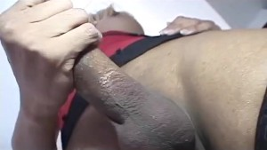 Tranny with Huge Uncut Cock As