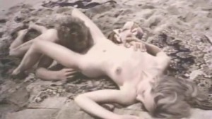 Hard vintage sex on a beach