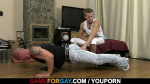 Hunky coach is stuffed with horny cock
