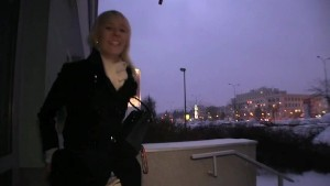 PublicAgent Blonde Laura s ass gets covered in my cum