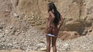 Tan Girl on the Rocks - Julia Reaves