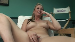 Sexy blonde uses a vibrator for the camera - DreamGirls