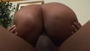 Black booty loves black cock -