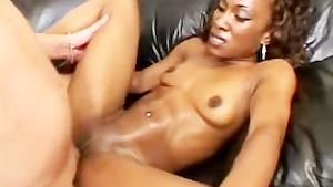 Ebony Honey Fucked Hard On The Couch