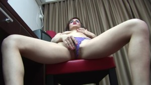 Teen plays with herself