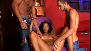 Horny girl and two guys really