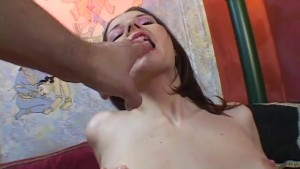 Pale brunette in stockings playing with her pussy - Critical X