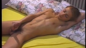 Young Blonde Guy Stroking His Cock - The French Connection