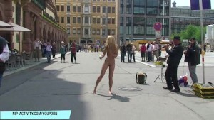 Blonde Babe Celine Naked On Public Streets
