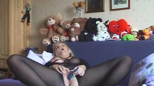 girl playing with her dildo