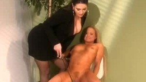 Female Boss Spanks Her Secreta