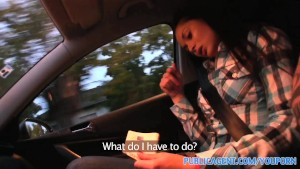 PublicAgent HD Cute brunette Russian is fucked against my car