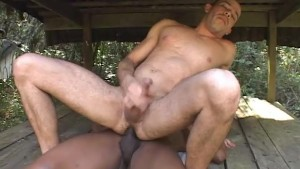 Bareback interracial fuck in the woods - Thrust Men