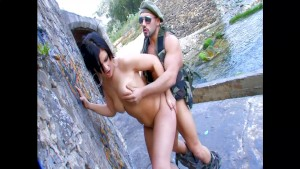 Hard fuck by the water for a cute raven - Kemaco Studio