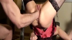 Horny milf fist fucked in her