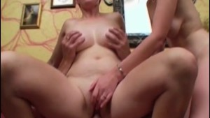 Couple with taller pale redhead for sex