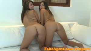 FakeAgent Creampie for young brunette in casting
