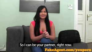 FakeAgent Big young tits chubby babe anal creampie with a friend
