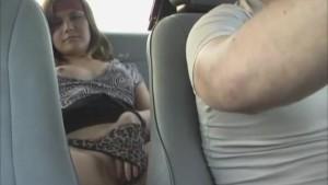 girl masturbates in a taxi