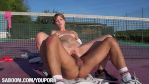 Young Euro Redhead in aTraining Fuck