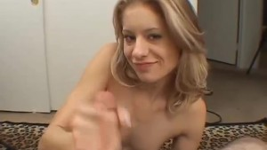 Petite blonde gets her pussy d