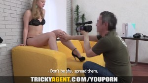 Tricky Agent - Her first porn casting movie