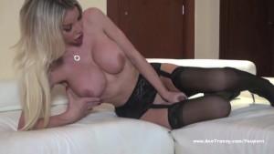 Ana Mancini in Black stockings