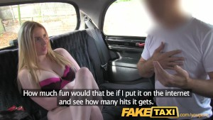 FakeTaxi Stunning scottish blonde with great body and tits