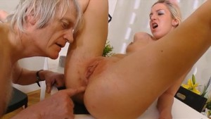 Old man fingering and fucking