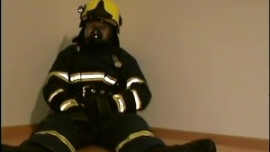 Hot Firefighter In Full Gear