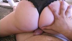 Brunette amateur mature wife jerking dick 2