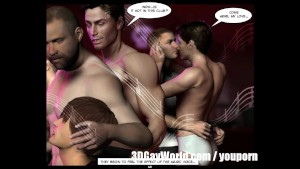 Mad Public Orgy in Gay Club 3D Gay Comics or Anime Cartoon Story