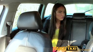 FakeTaxi Hot Budapest girl in airport taxi blowjob