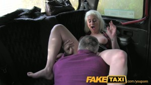 FakeTaxi Lithuania glamour model sucks big cock