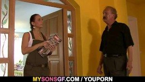 Horny dad uses son s girlfrien