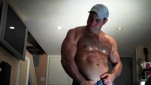 Fat Sweaty balls Cum!