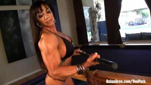 Aziani Iron female bodybuilder Marina Lopez nude