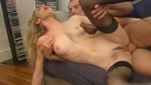 Blonde gets fucked and gives a nice blowjob - Telsev