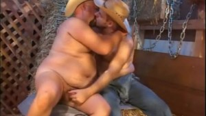 Big Chubby Gay Cowboys in the Barn