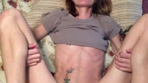 skinny crackwhore fucked in ass