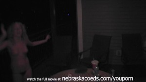 Playing and Losing at Drinking Games with Young College Girls Late Night Video