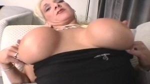 busty MILF anal casting video