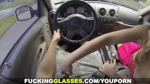 Fucking Glasses - BJ on a ride and backyard fuck