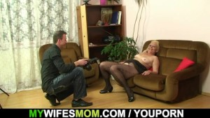 Her hubby cheated with her old mom