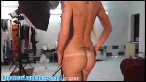 Nasty tattoed chick lapdances and does BJ