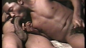 Getting a handful and mouthful of big black cock - East Harlem Productions