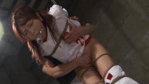 Hot Asian cheerleader enjoys a round of bdsm.